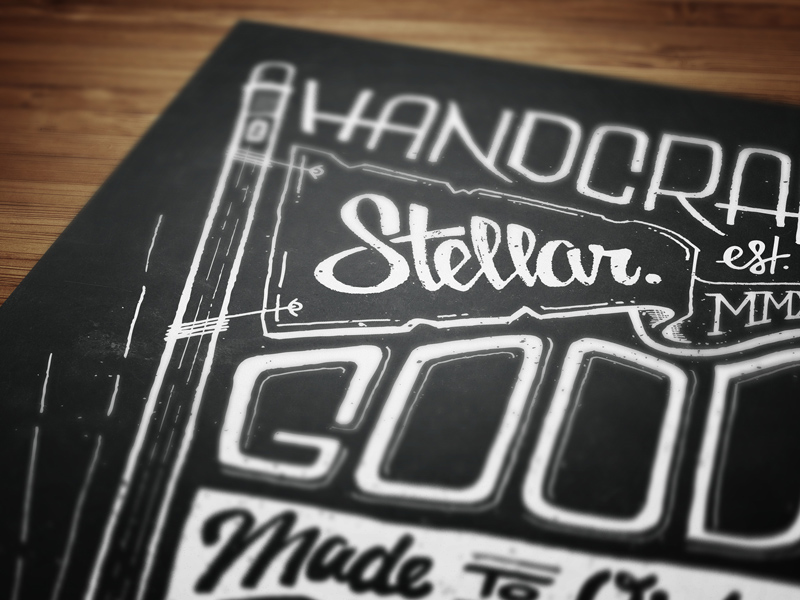Handcrafted Stellar Goods, Made to Order: Final, mockup.